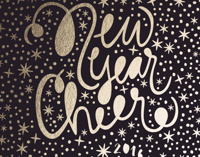 Wow Factor Hand-Lettered New Year Card