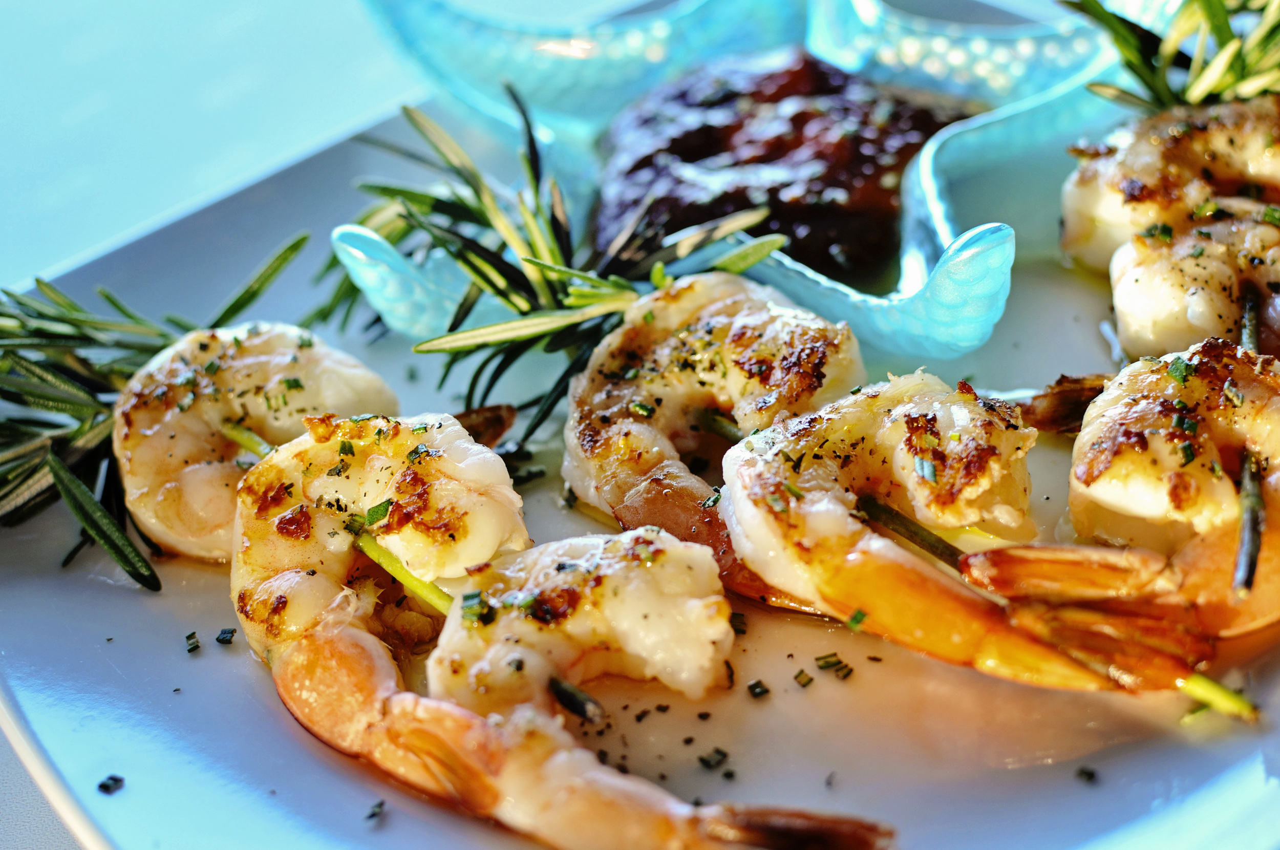 Grilled Rosemary Shrimp Cocktail