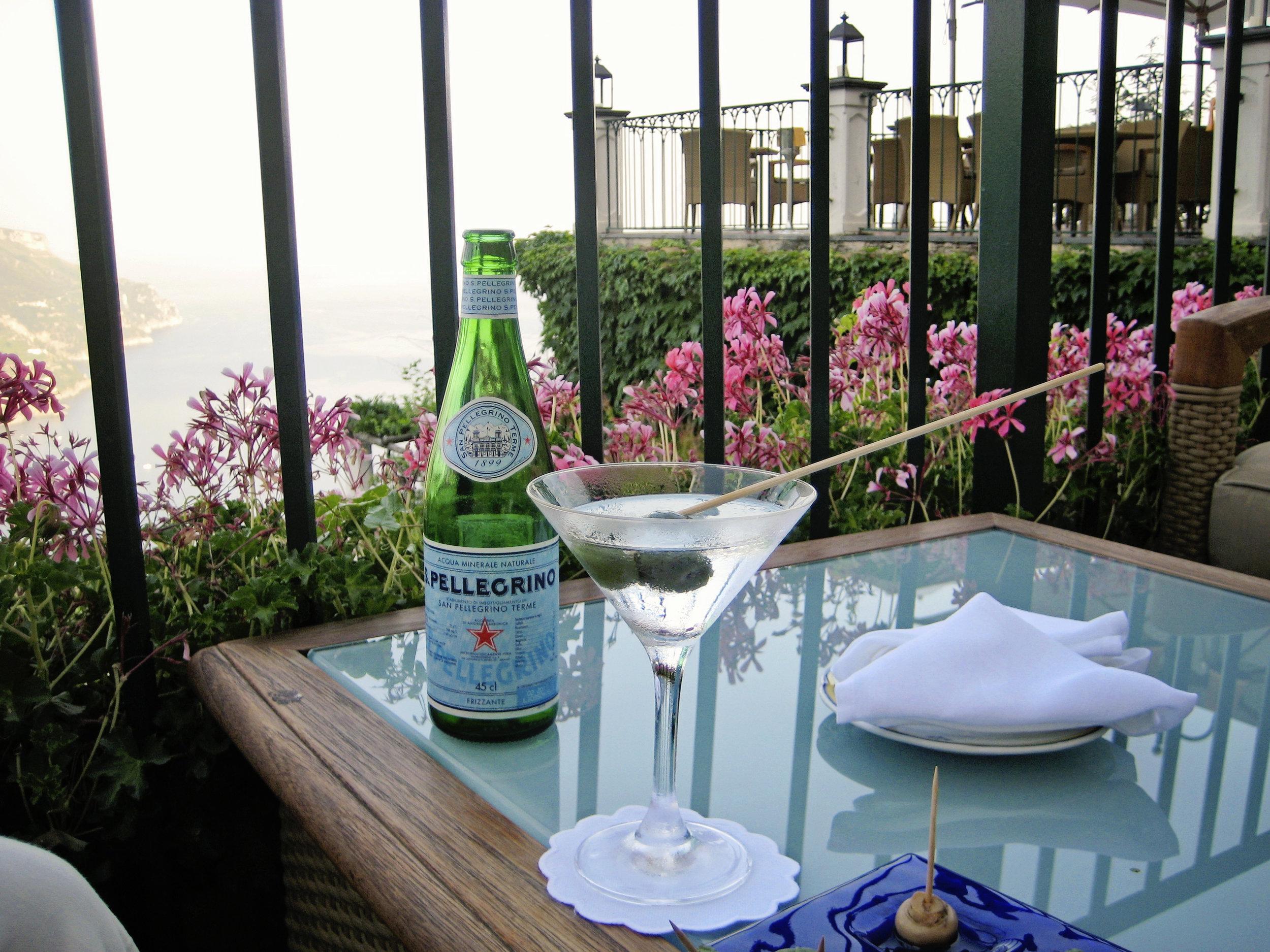 Martini with a View at Palazzo Avino Ravello, Italy