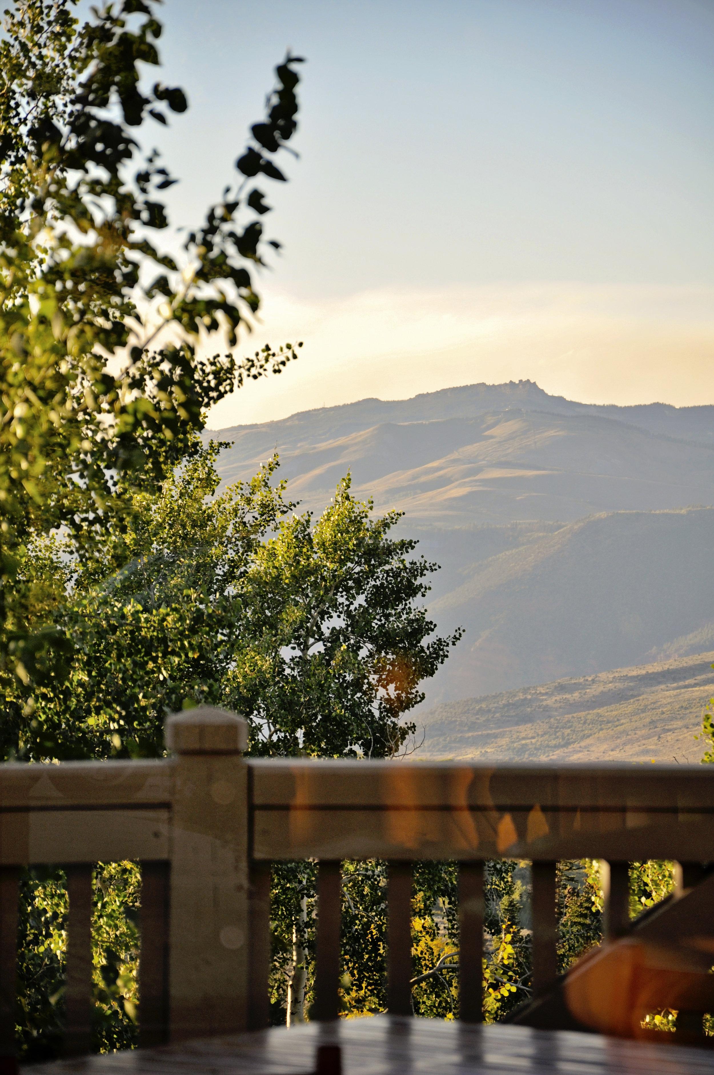 Sunset at the Tips! The Summit Club at Cordillera...9200 feet!