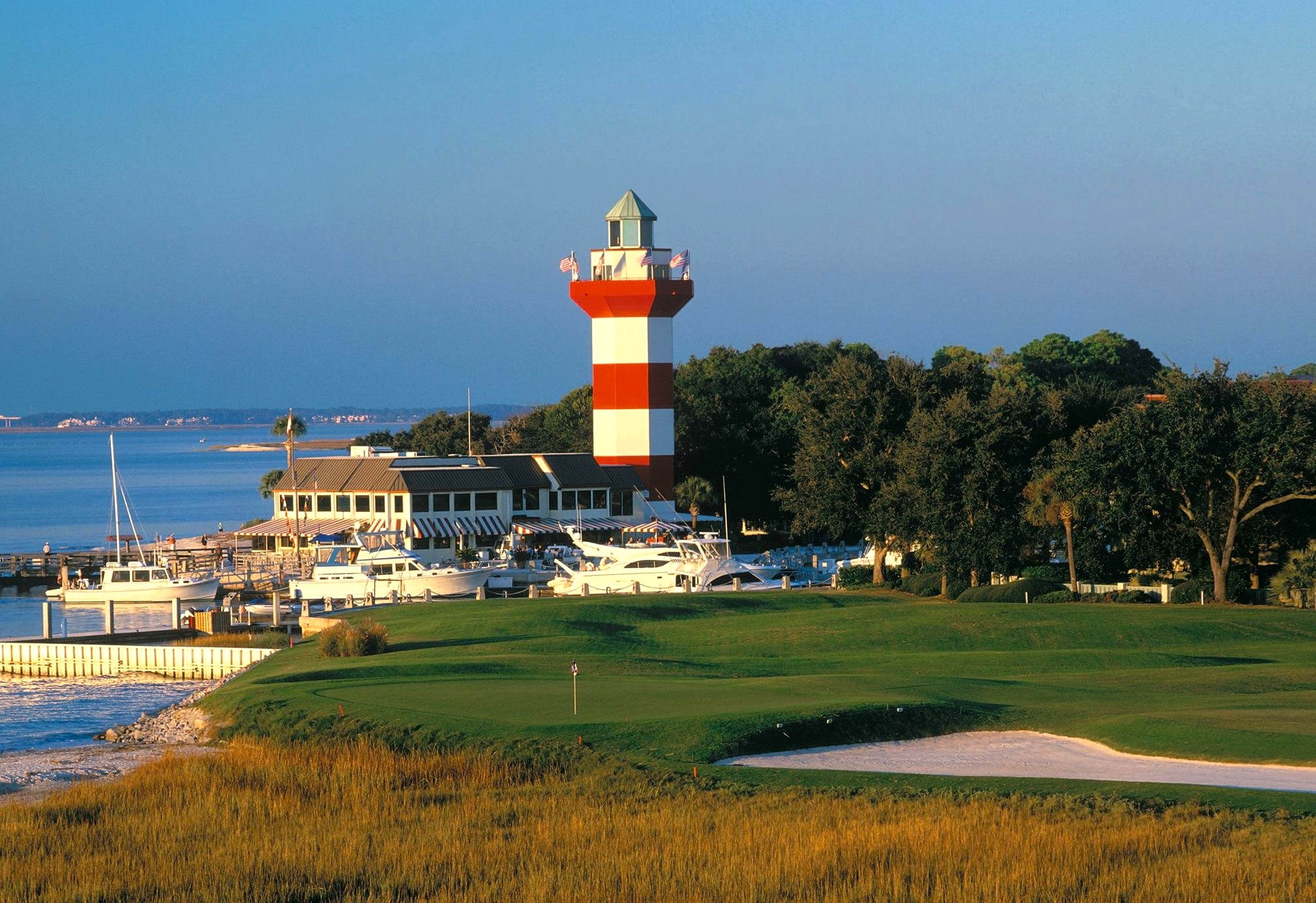 Our home.  Beautiful Harbour Town, Sea Pines Resort, Hilton Head Island, South Carolina
