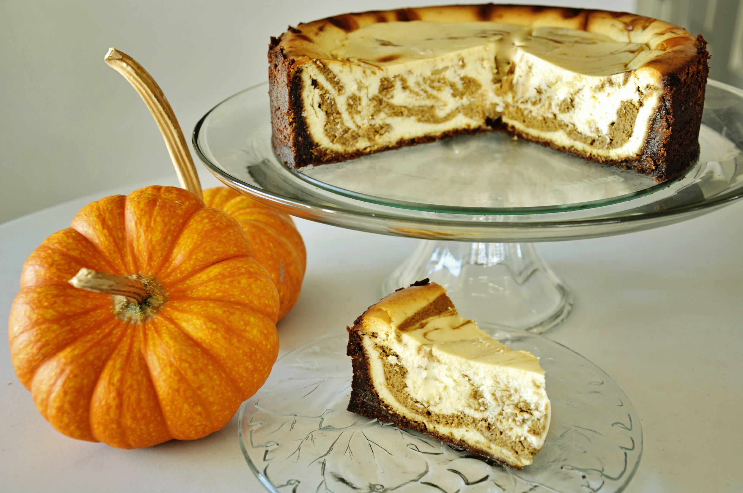 Pumpkin Swirl Cheesecake  , my go to Thanksgiving dessert