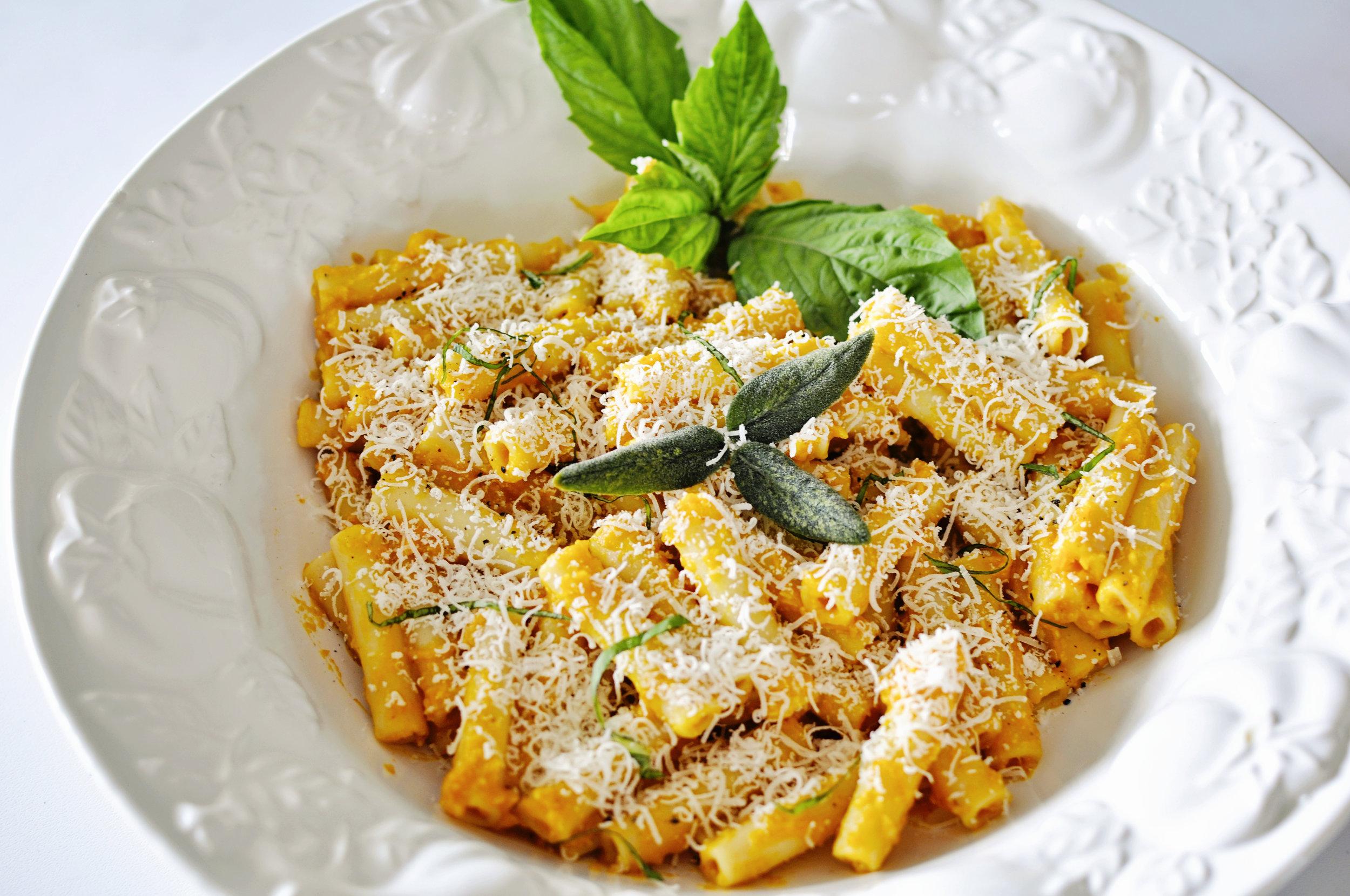 Creamy  Pumpkin Parmigiana Zita  with a hint of Amaretti