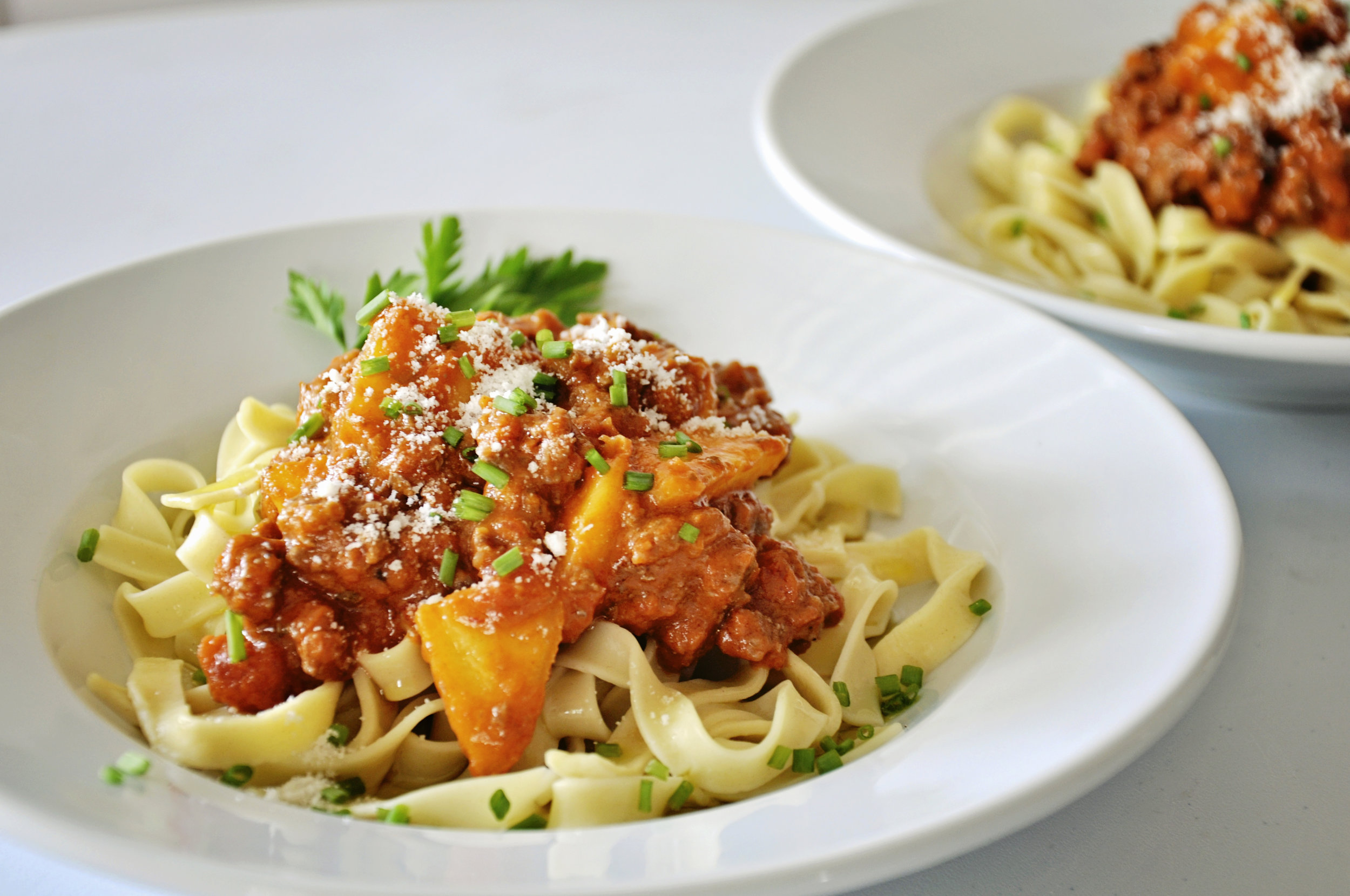 Hearty Peach Bolognese