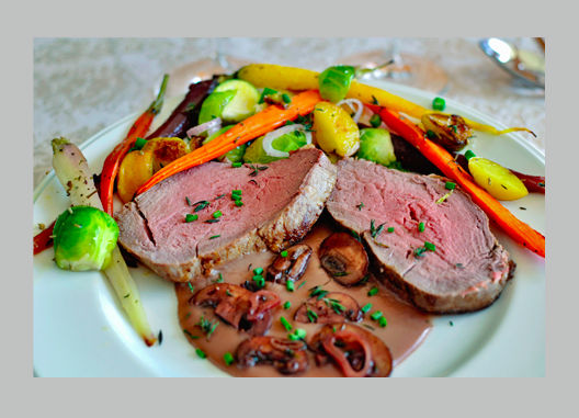 Beef Tenderloin & Roasted Root Vegetables