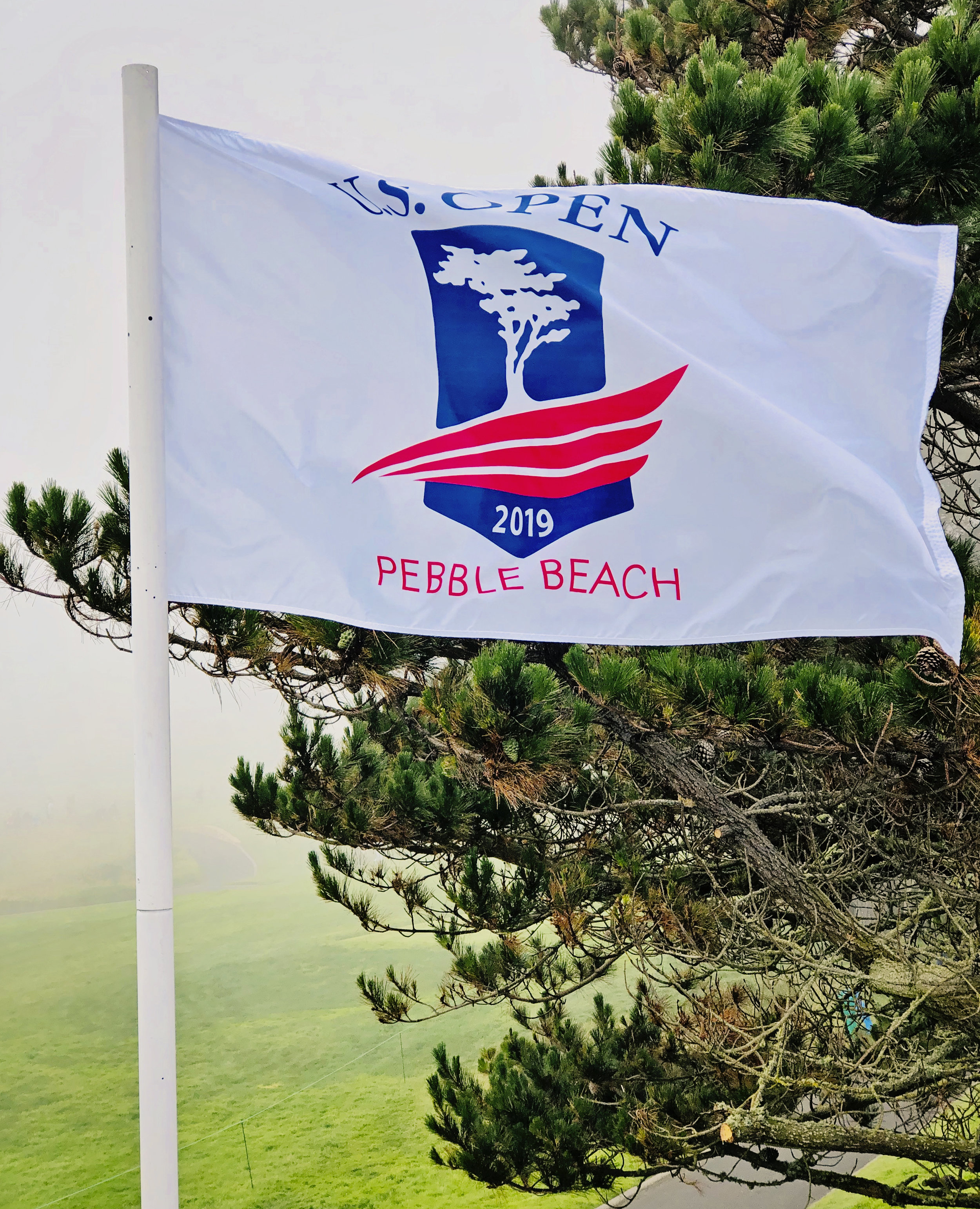 On to the Monterey Peninsula, as the fog rolls into Pebble Beach, making it a bit chilly for summer!