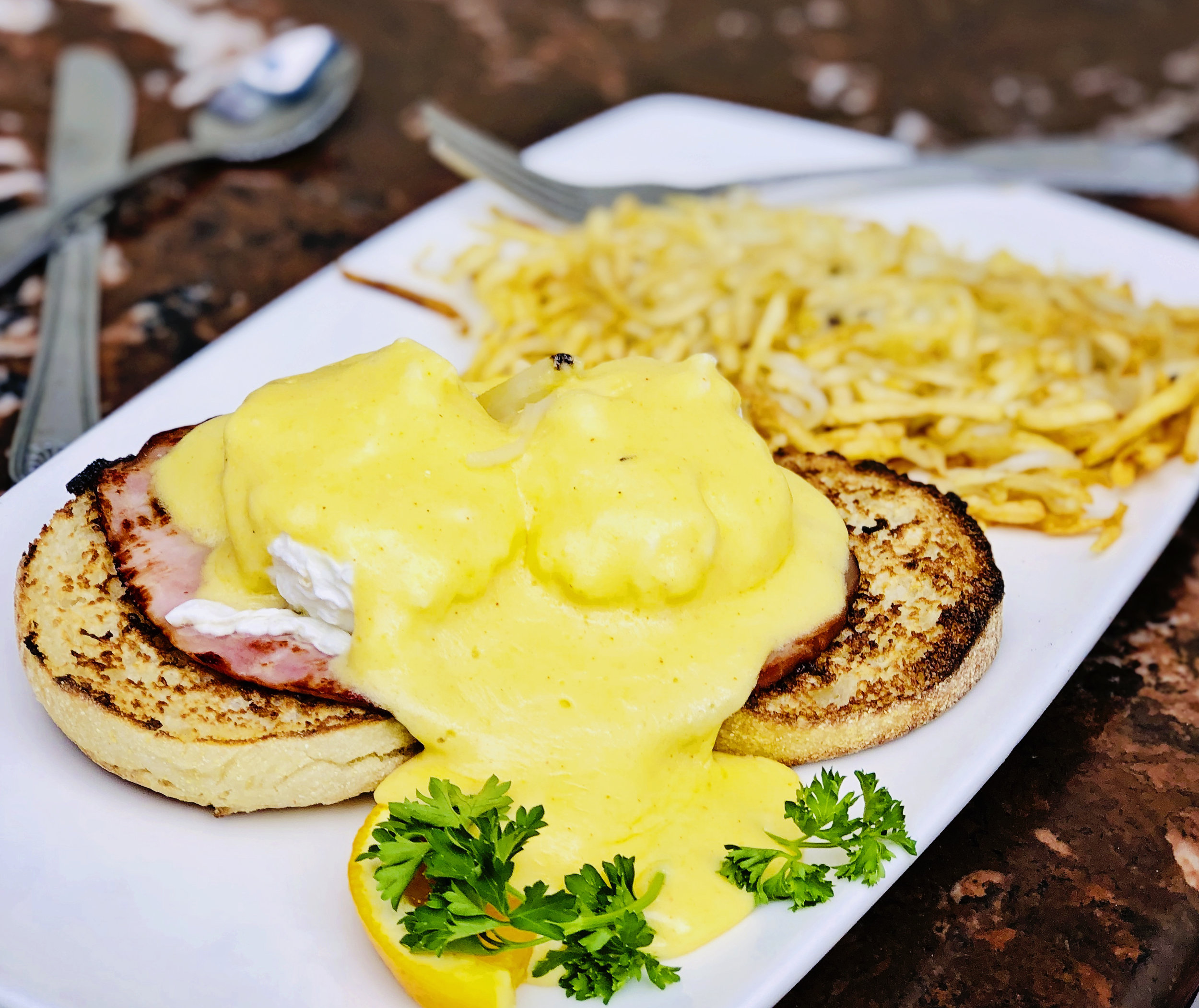 Village Corner California Eggs Benedict