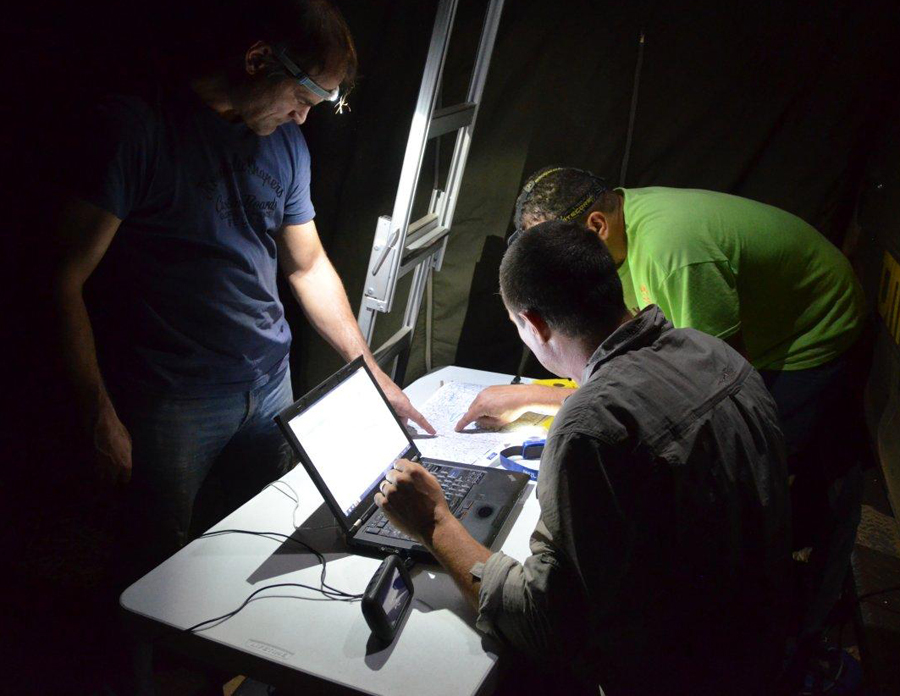 Autoworld team route preparation at midnight