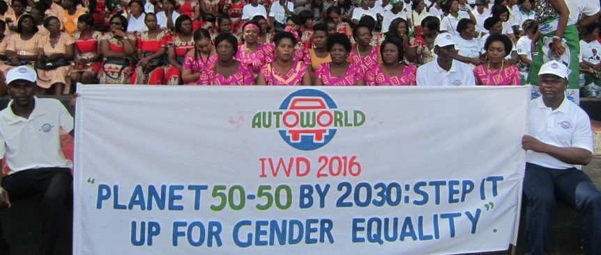 Autoworld staff at the International Women's Day event at Lusaka Showgrounds