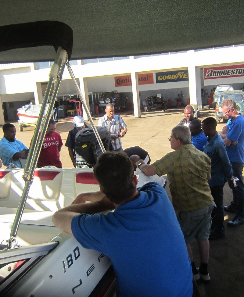 Mercury Marine technical training at Autoworld