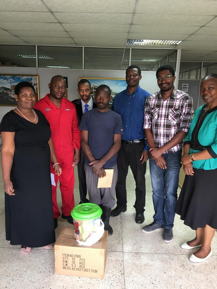 From left to right: Margaret Mali, Mark, Emmanuel, Joseph Mulenga. Andrew Malembeka, Moses and Annie Zulu