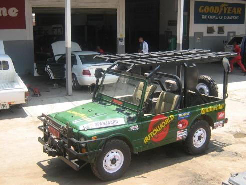 The first car the Autoworld team started with in the 2010 Elephant charge, and learned a good lesson from the experience (completing the race in a Toyota Land Cruiser pick up)