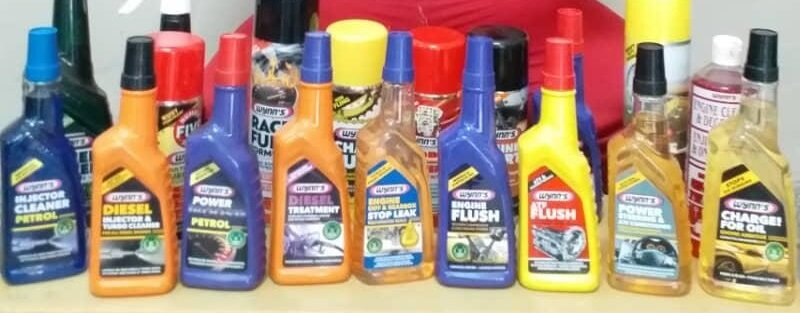 The range of Wynn's products stocked by Autoworld
