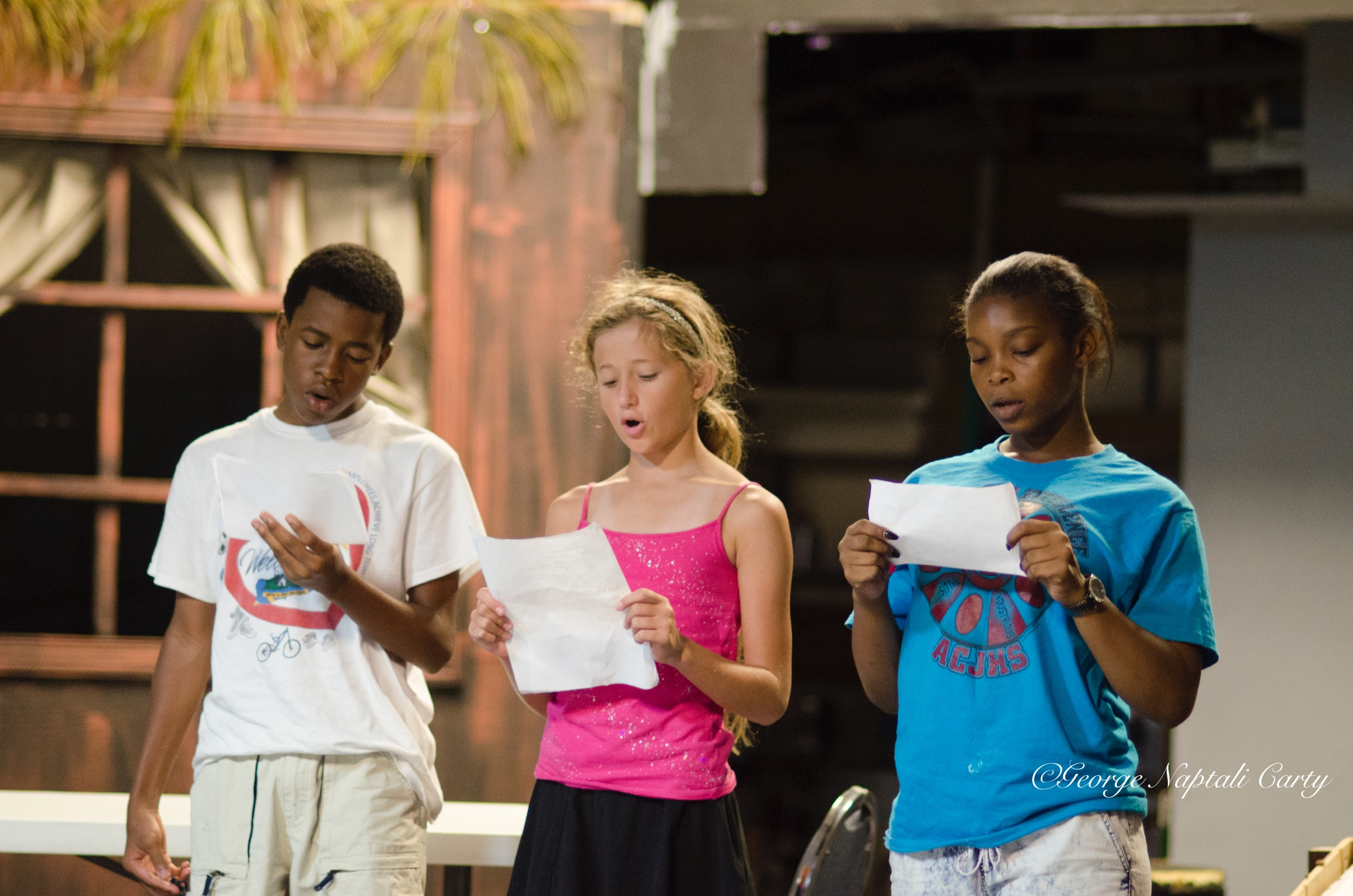 Students in this year's Leadership Camp learn about playwriting, acting, directing, set design, producing, and much more!
