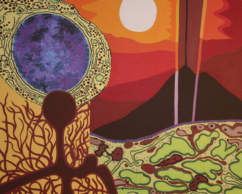 "Alien in Kenya, acrylic on canvas, 24"" x 30"", 2007"