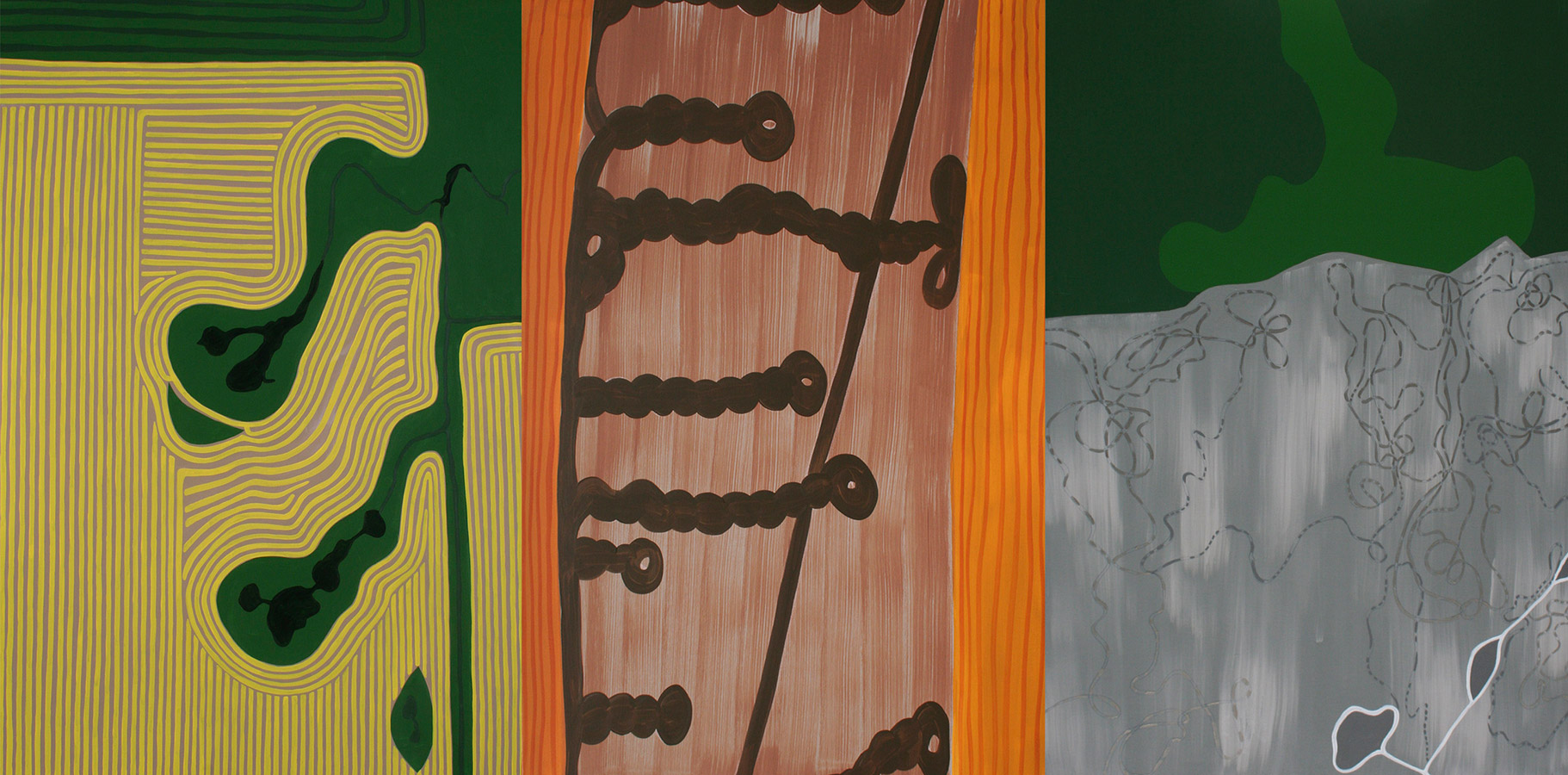 "Air Patterns, acrylic on canvas, 60"" x 120"", 2006"