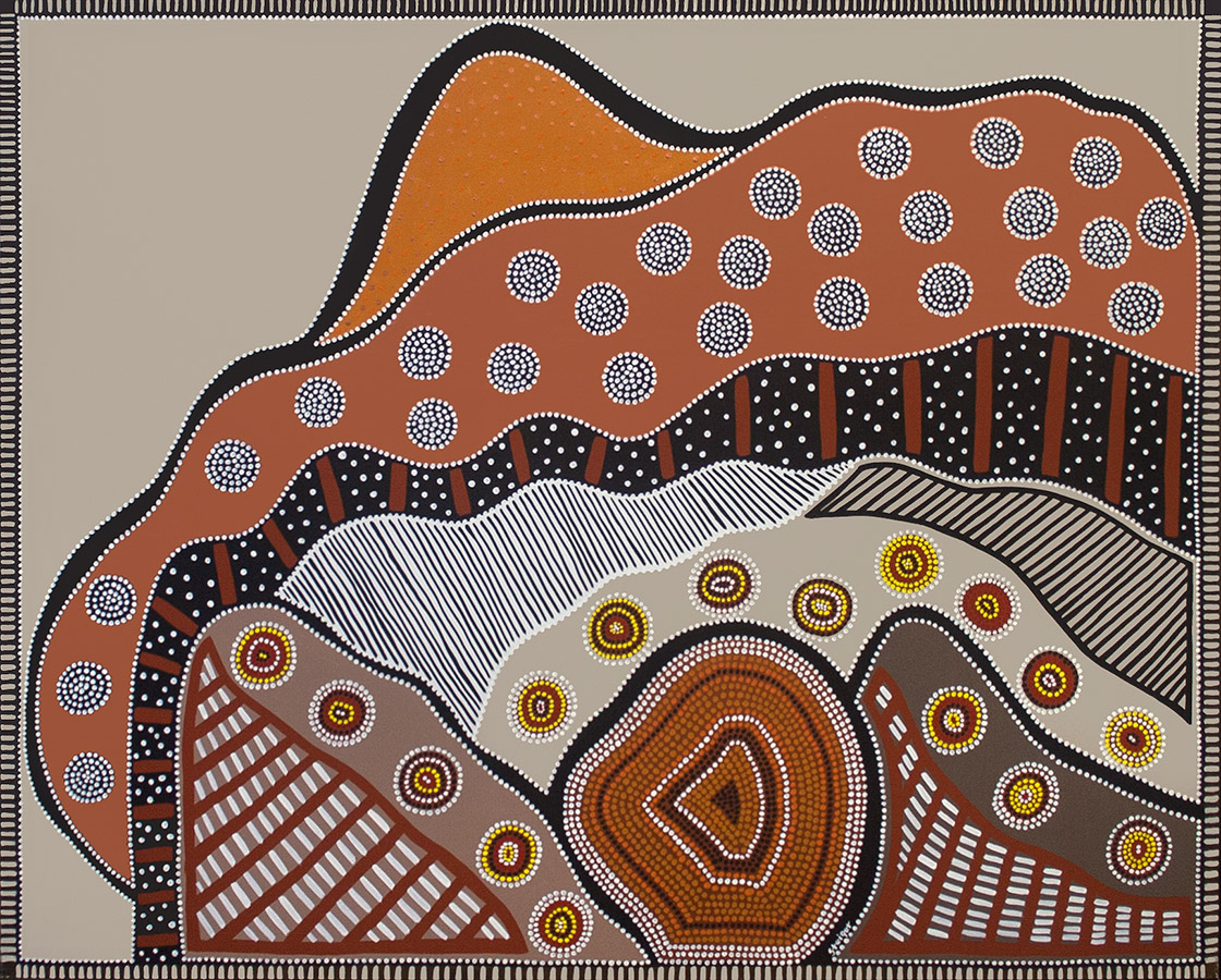 """Dancing Field and Vibrating Rock, acrylic on canvas, 48"""" x 60"""", 2004"""