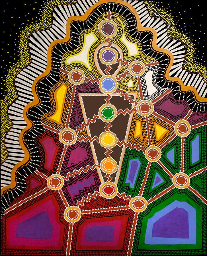 """Color Therapy, acrylic on canvas, 60"""" x 48"""", 2003"""