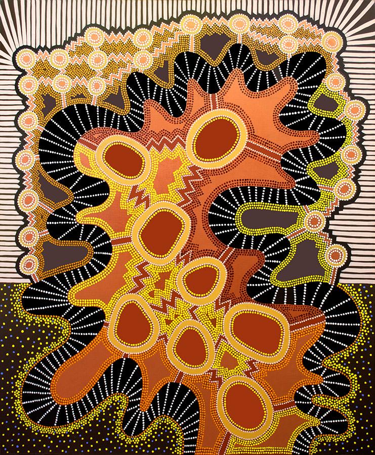 """Energy #1, acrylic on canvas, 72"""" x 60"""", 2003"""