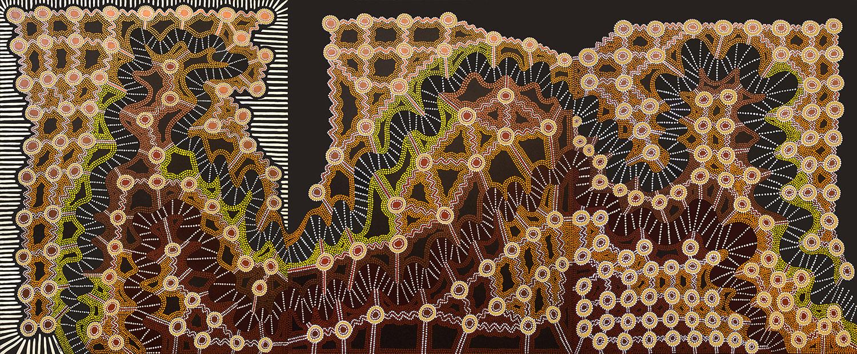 "Equilibrium, acrylic on canvas, 60"" x 144"", 2002"