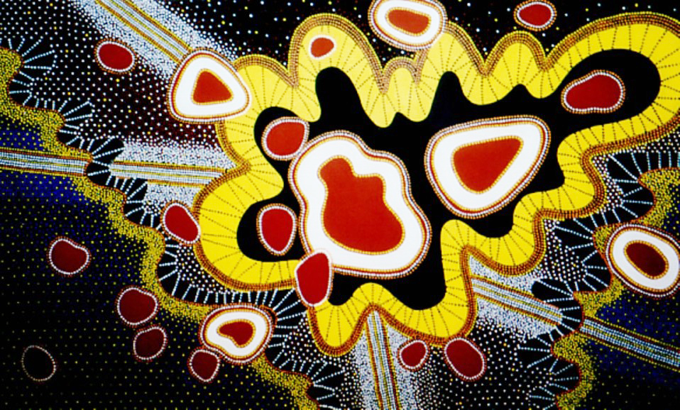 """Chakras in Space, acrylic on canvas, 60"""" x 96"""", 2002"""