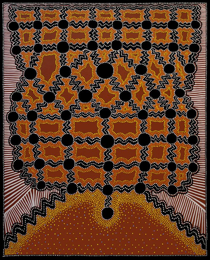"""Yin, acrylic on canvas, 60"""" x 48"""", 2000"""