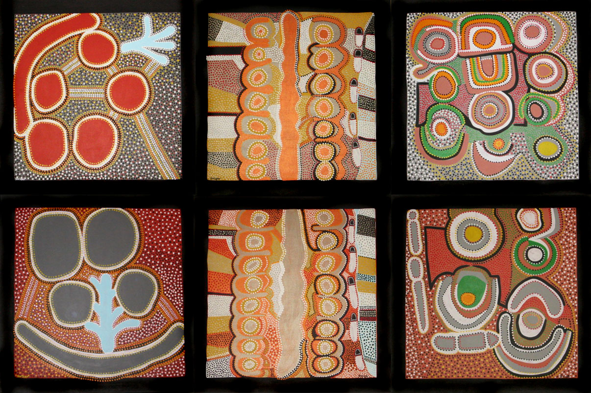 """Series Sampler, acrylic on canvas, 72"""" x 108"""", 2000"""