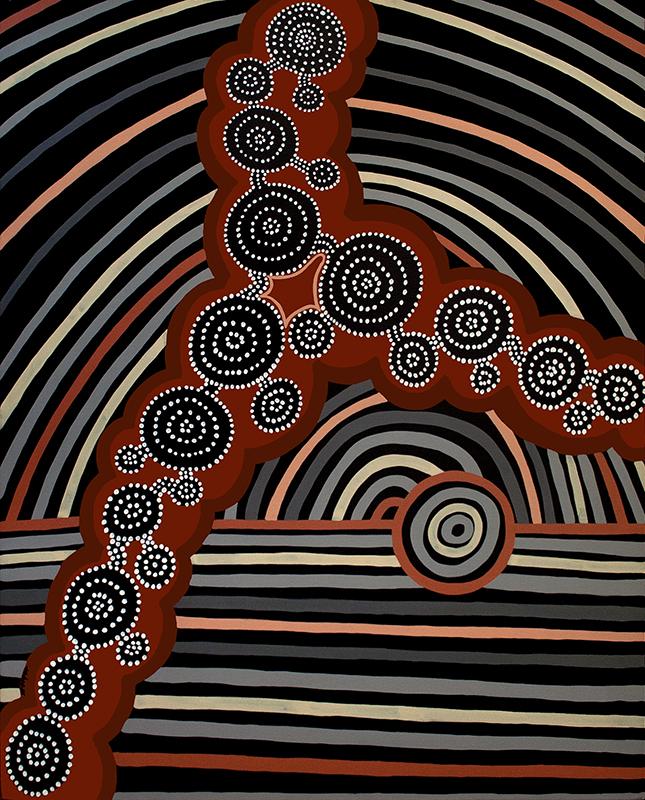 "Black, acrylic on canvas, 60"" x 48"", 1999"