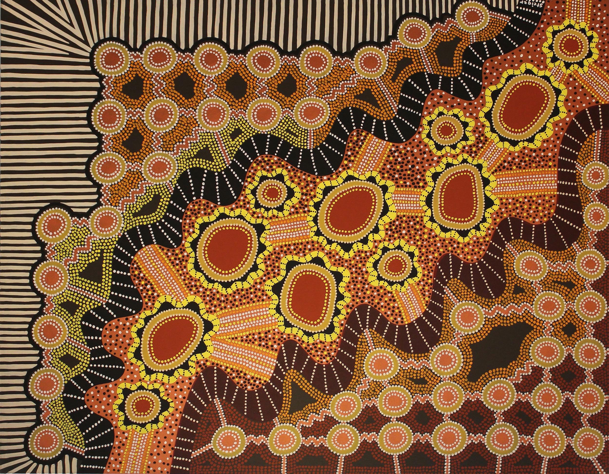 "Energy Moving through Energy, acrylic on canvas, 48"" x 60"", 2003"