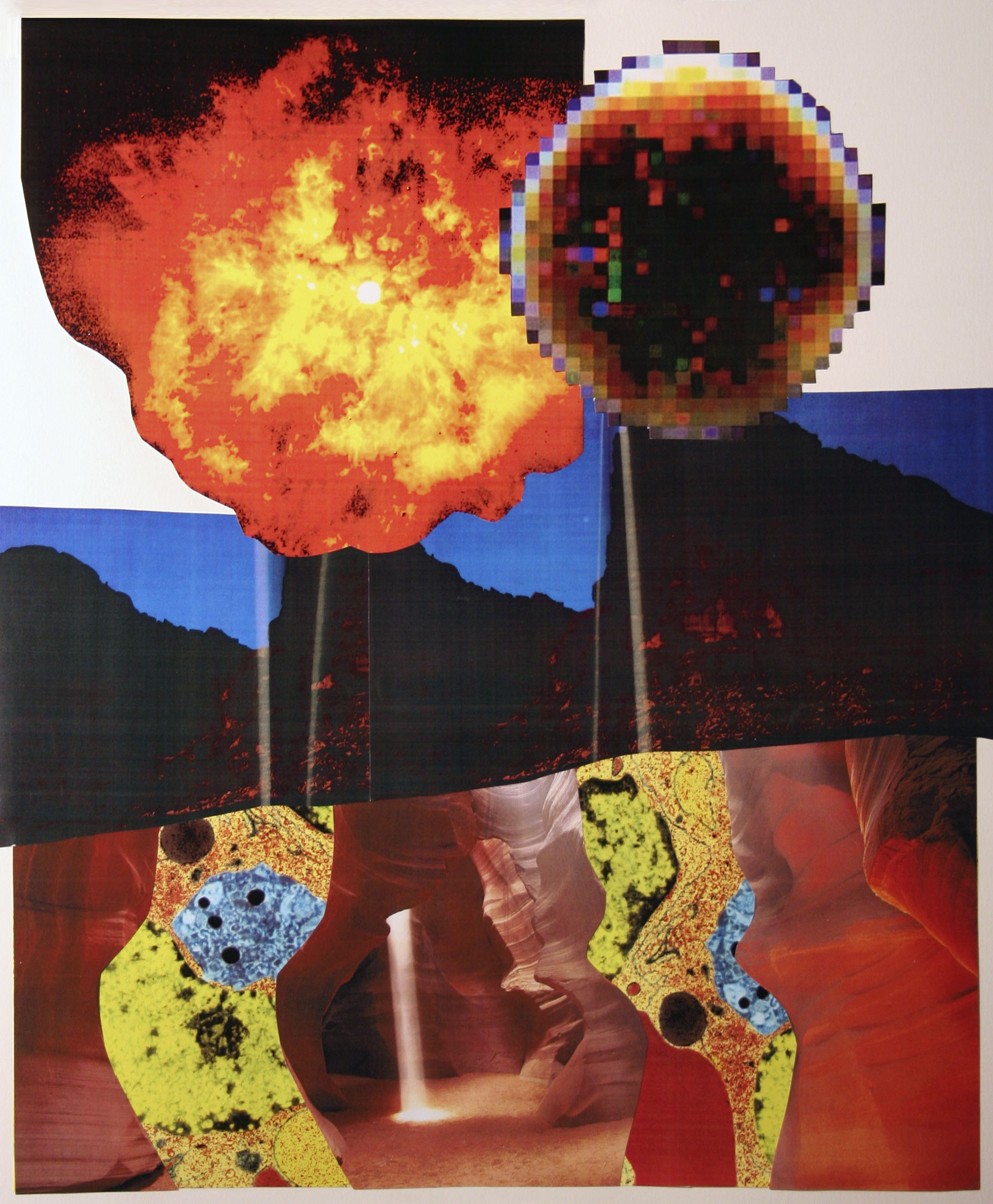 "Light Shows, collage on paper, 14"" x 17"", 2006"