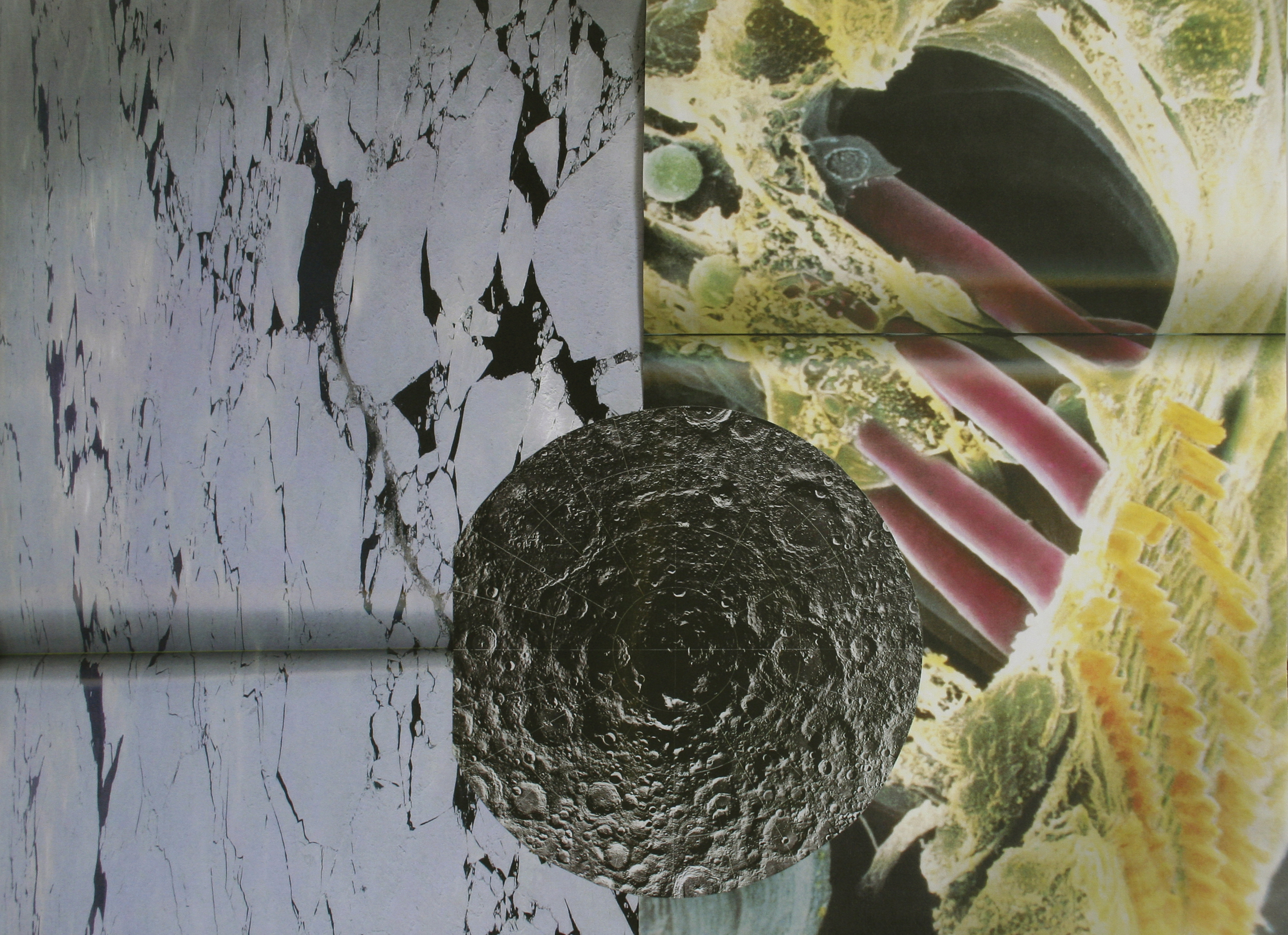 "Sheetrock, collage on paper, 15"" x 21"", 2007"