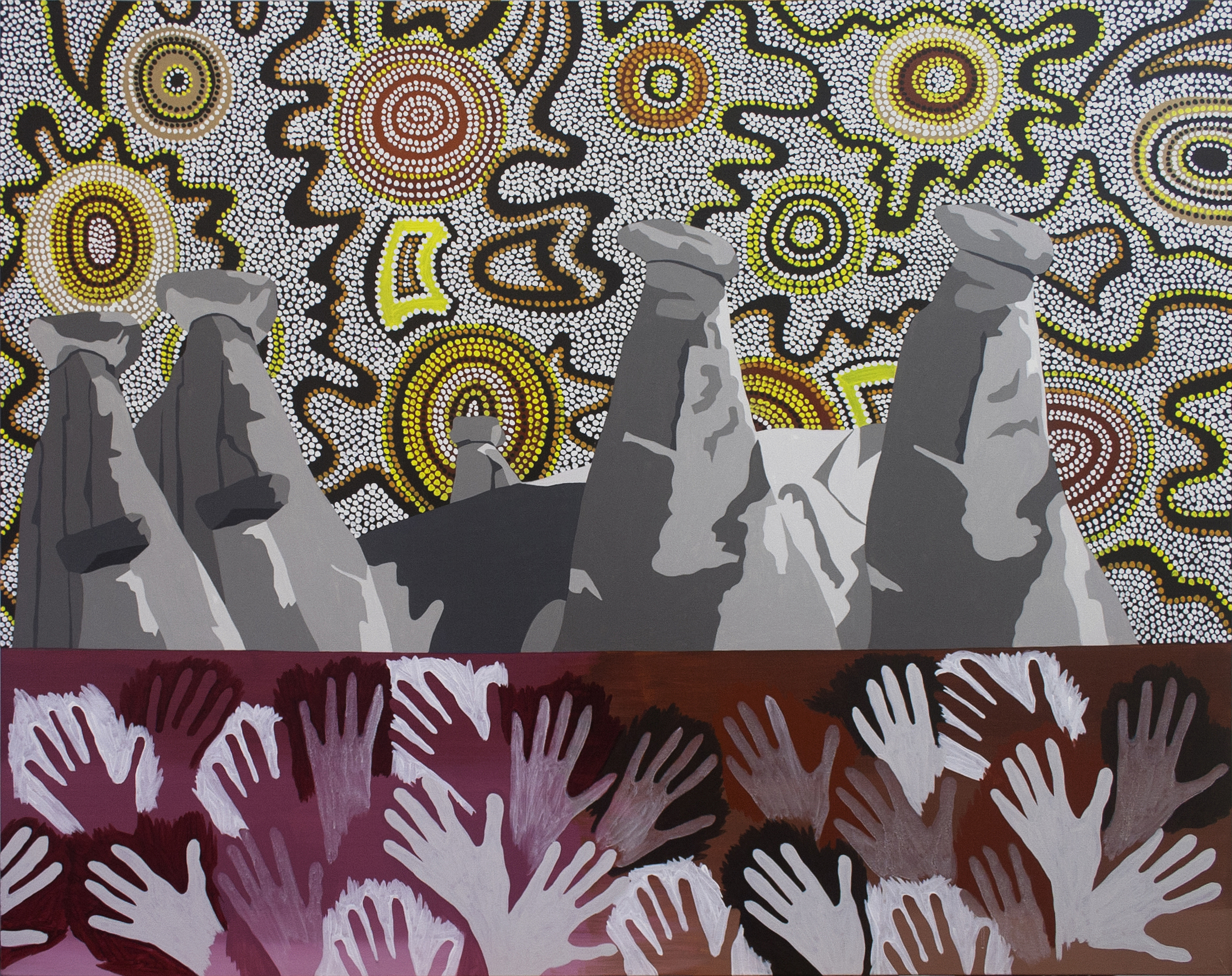 """Impressions, Dreamland, acrylic on canvas, 48"""" x 60"""", 2013"""