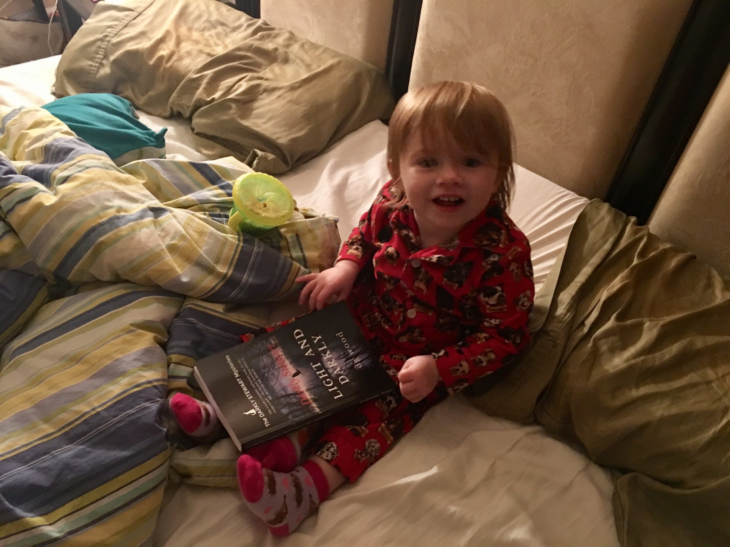 Somebody's excited about Daddy's new book!