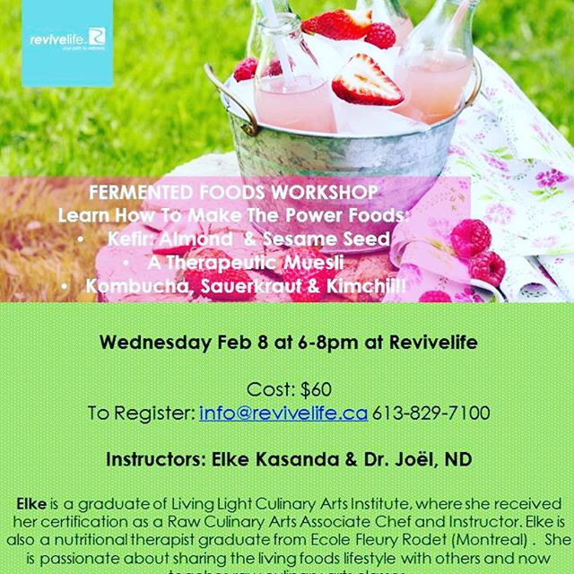 Revivelife Clinic is offering a fermented food workshop on Wednesday February 8th from 6-8pm! Email info@revivelife.ca to reserve your spot and learn how to make kimchi, kombucha, sauerkraut, kefir and more! 🍎🍏 #holistic #holistichealth #healthy #fermentation #fermentedfoods #cleaneating #vegan #health #wellness #plantbased
