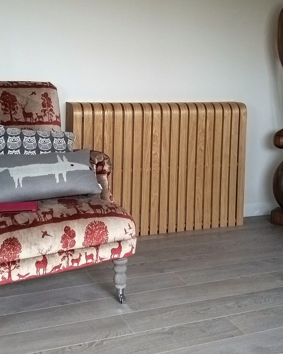 Oak Floor Standing Radiator Cover