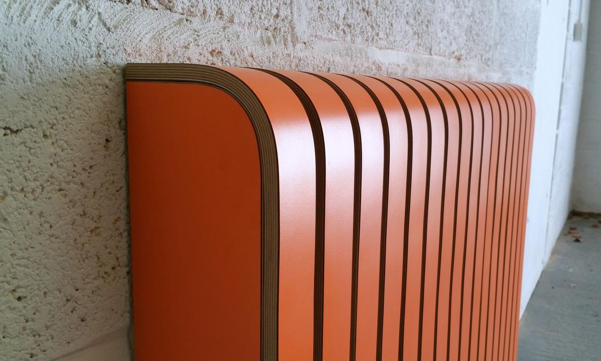 'Orange' Laminate Radiator Cover