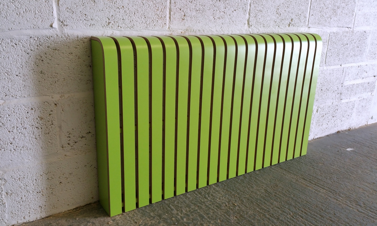 'Lime Green' Laminate Radiator Cover