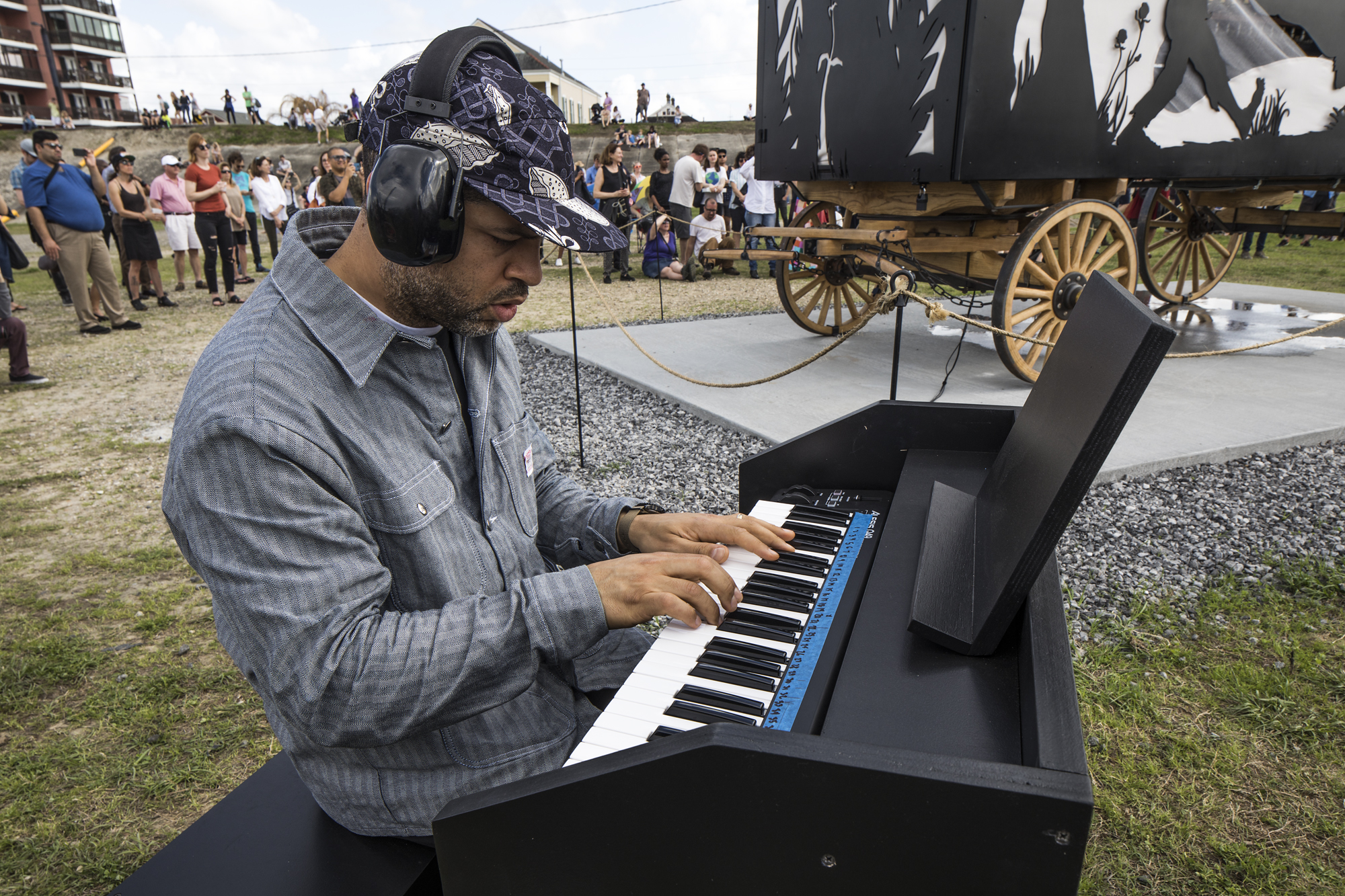 Jason Moran Performance.  The Katastwof Karavan , 2018. [Photo: Alex Marks]
