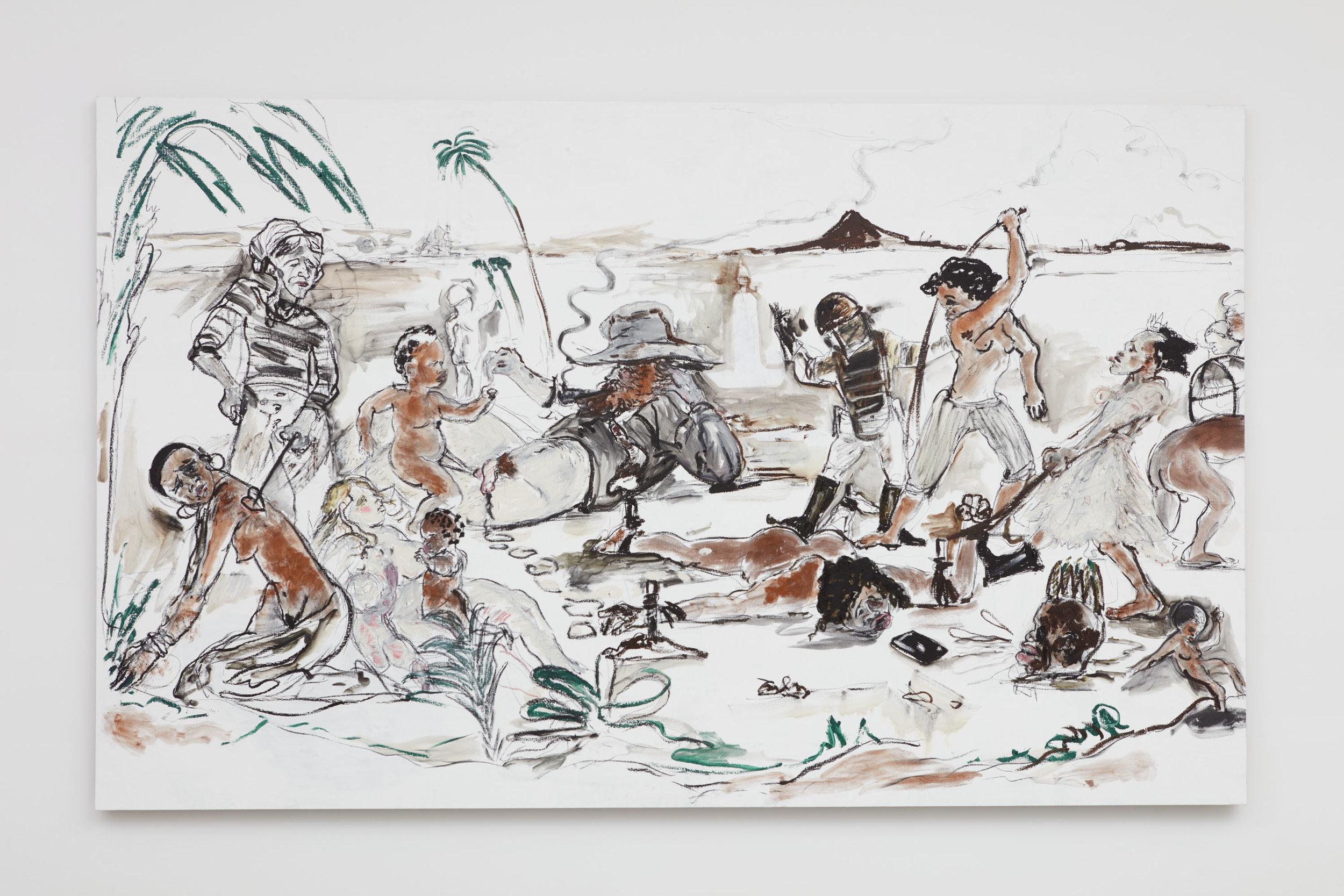 Brand X (Slave Market Painting) , 2017.