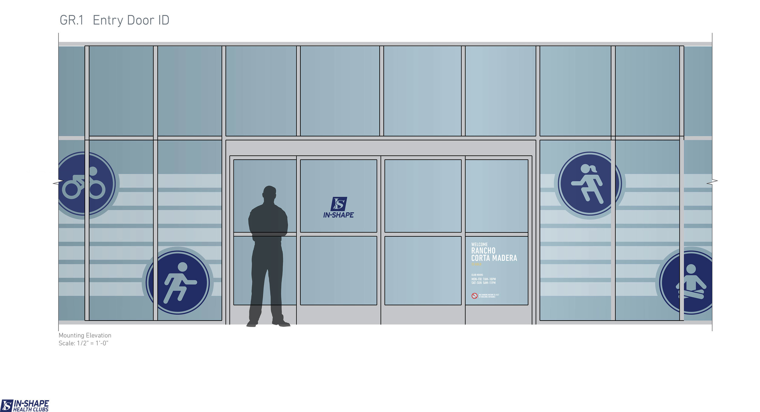 """Privacy"" decal mock-up for club windows."