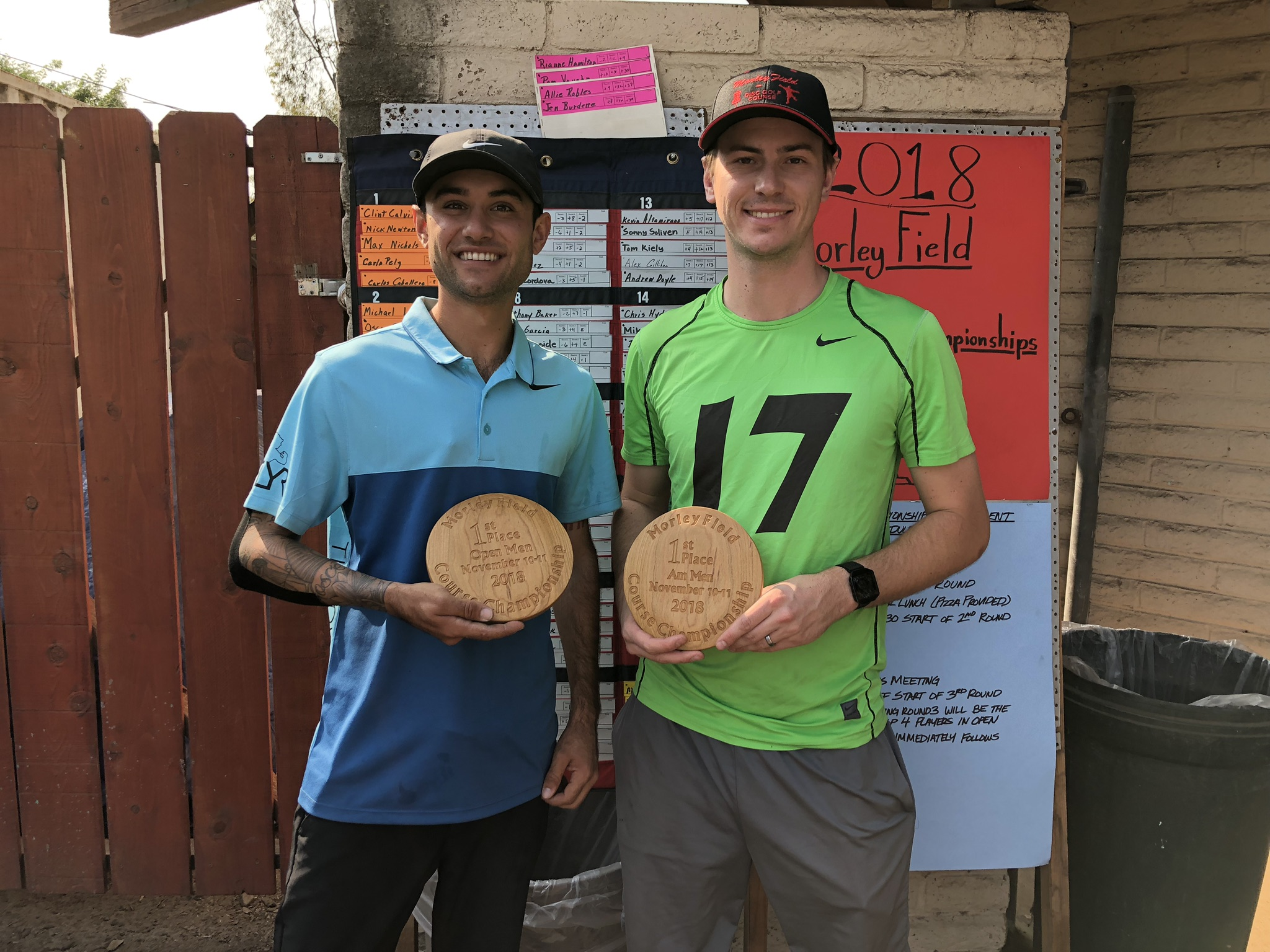 Clint Calvin (Course Champion) and Alex Gerlock (Am Champ)