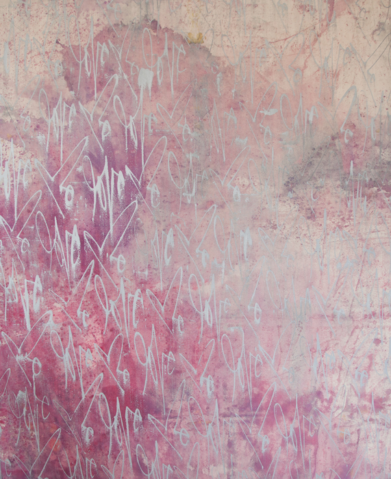 "DYE SERIES 1. Mixed Media on Canvas. 2012. 60"" x 73"""