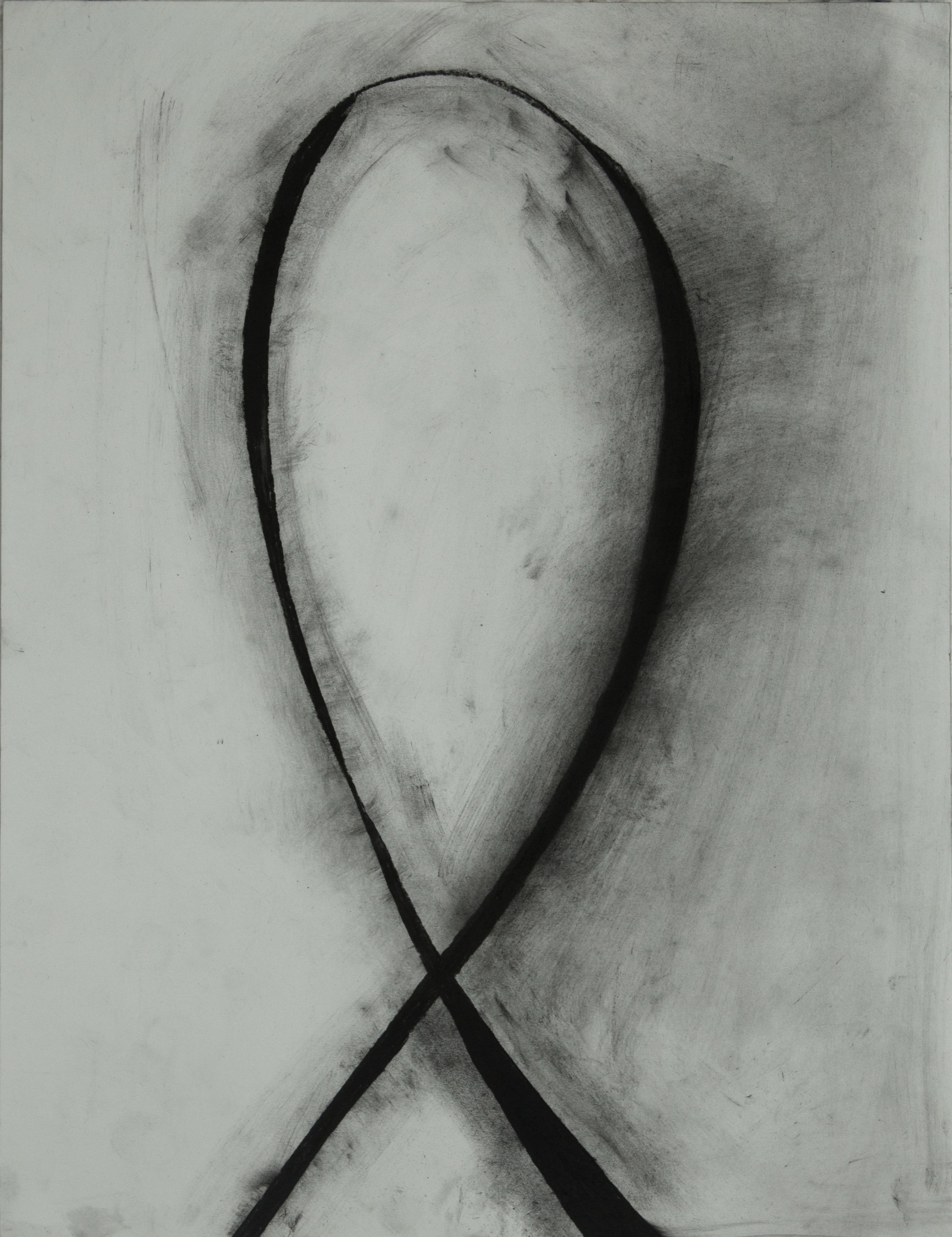 Study of Love Me,  2016  charcoal on paper  21.25 x 16 inches