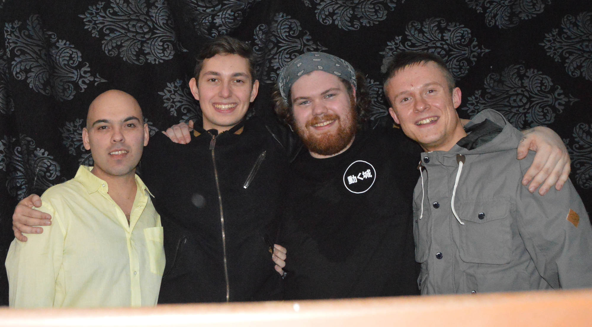 From left to right:Willie G, Frame, XelaZen, Joshua Surreal