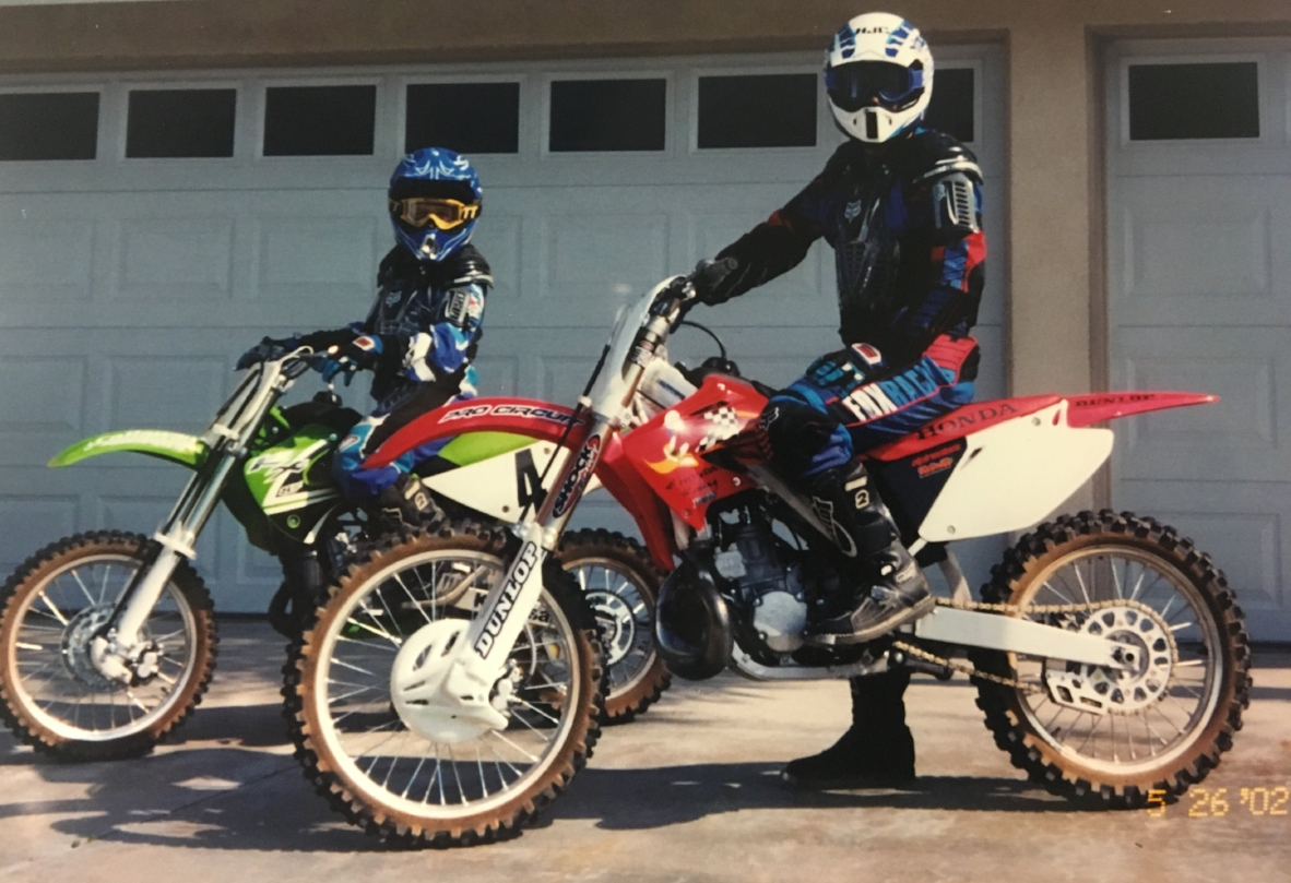 Back in the day my son Paxton and I could ride from of house to the dirt. No more due to local development. ☹️
