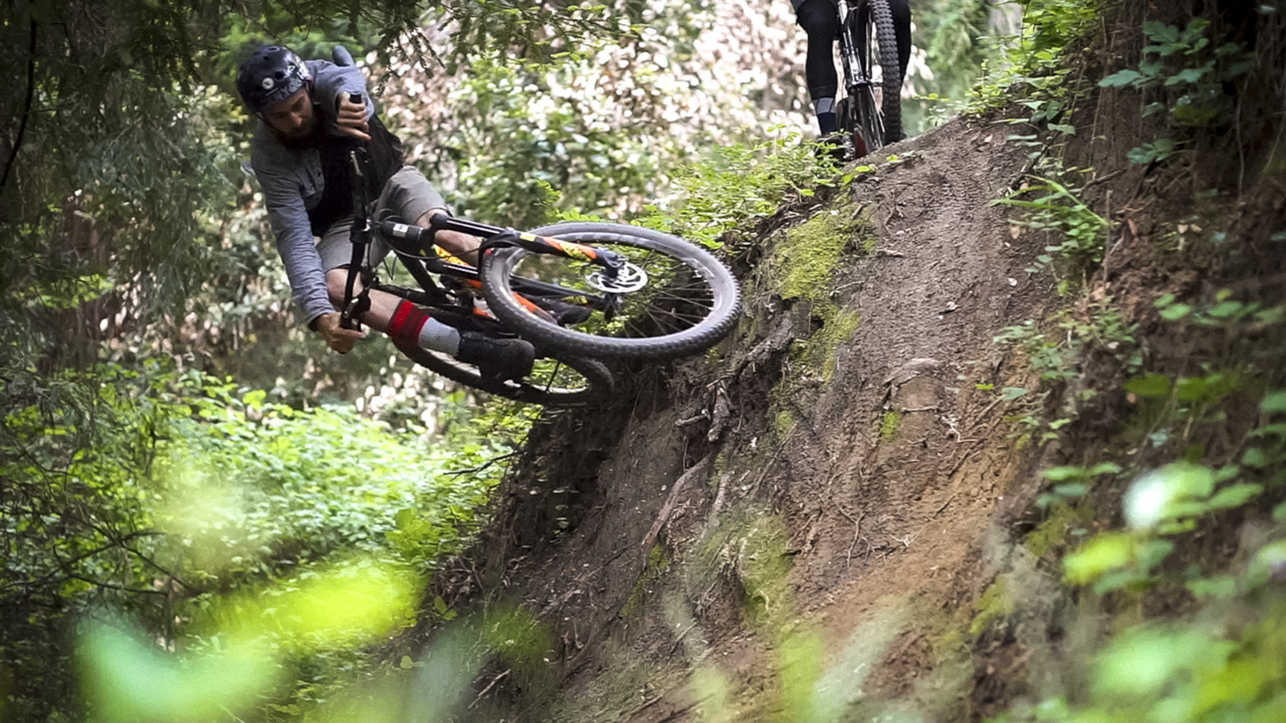 Airing berms on the squish bike