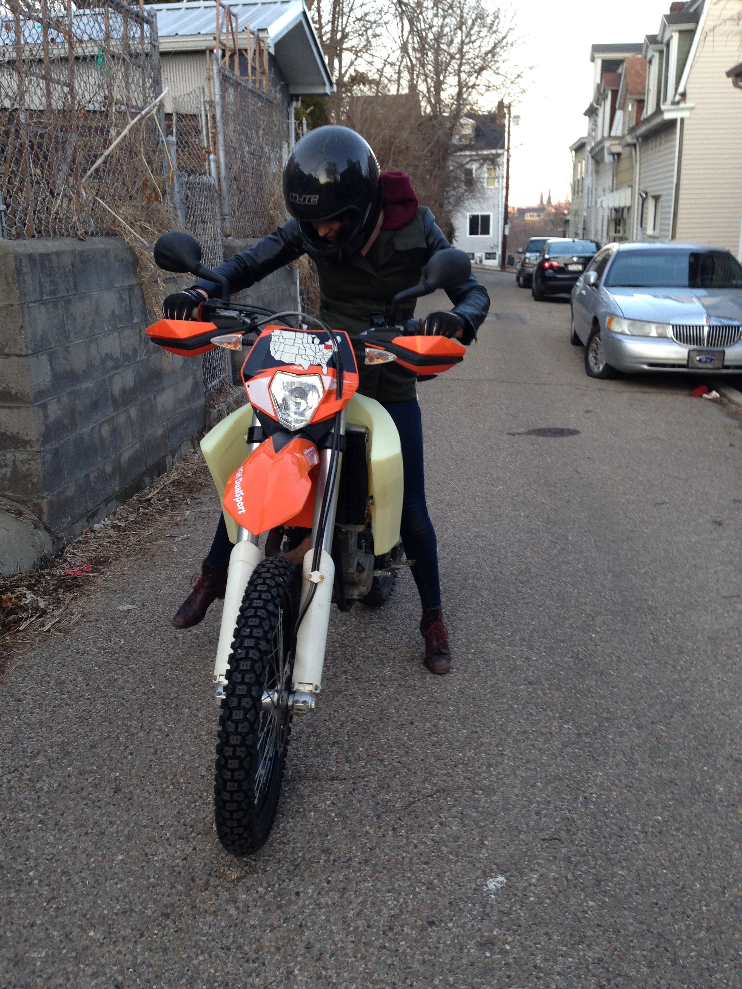 My first time learning how to ride on Adam's 2011 KTM EXC 450