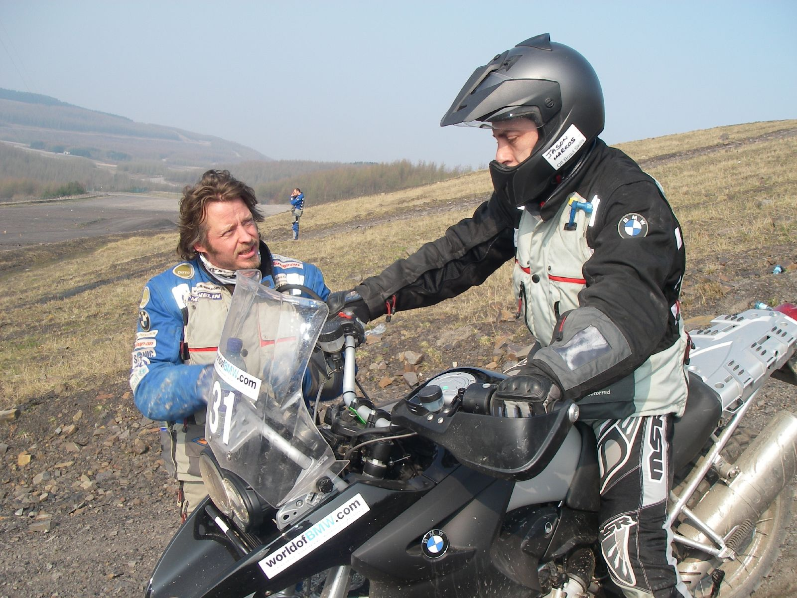getting taught by Charley Boorman at BMWs Offroadskills school