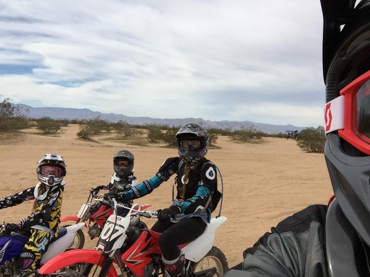 Dirt biking family