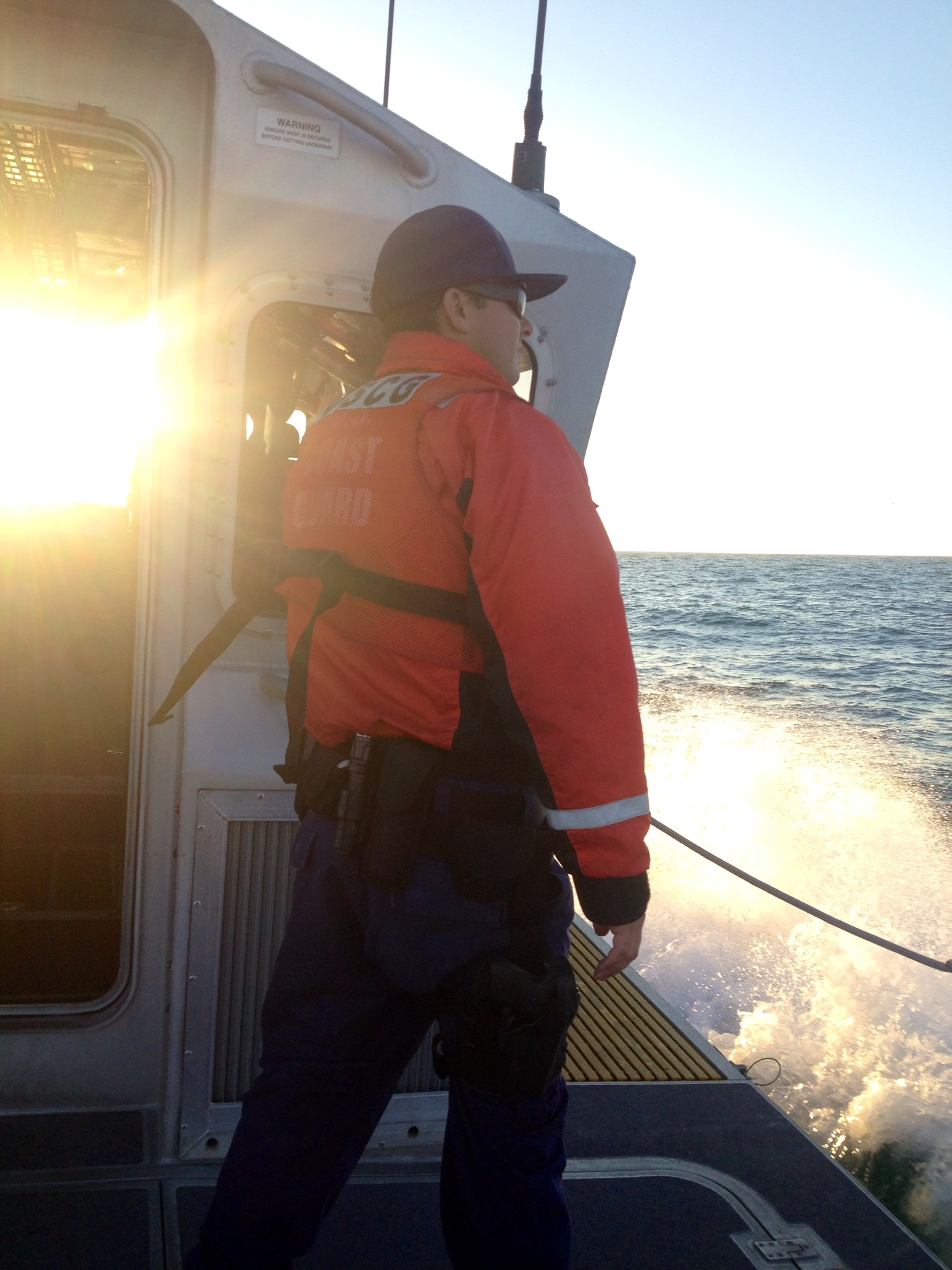 out on patrol in the Santa Barbara Channel.